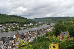 Zell Mosel & vineyards Royalty Free Stock Photography