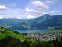 Zell Am See. Photo of Zell Am See in Austria in July 2009 Stock Photography