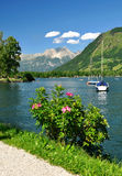 Zell am see. In Austria Stock Photography