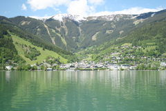 Zell am See. The resort of Zell am See in the Austrian Alps Stock Photo