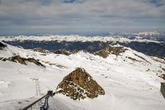 Zell Am See Austria. A general view of the ski lift in the ski resort of Zell am See in Austria Stock Photography
