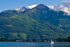 Zell am See Austria and Alps Stock Image