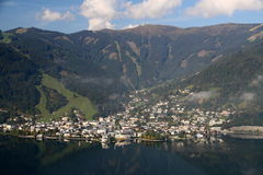 Zell am See center Royalty Free Stock Photography