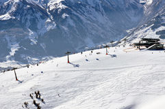 Zell am See ski resort in the Austrian Alps Royalty Free Stock Image