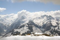Zell am See Ski Station Royalty Free Stock Photo