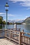 Zell am vê o lago Áustria Fotografia de Stock