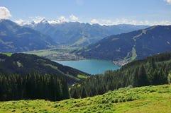 Zell am vê, terra de Salzburger, Salzburg, Áustria Imagem de Stock Royalty Free