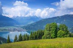 Zell vede, terra di Salzburger, Austria Fotografia Stock Libera da Diritti