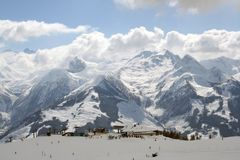 Zell am ziet de Post van de Ski Royalty-vrije Stock Foto's