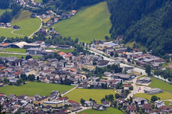 Zell am Ziller, seen from Rohrberg, Austria Royalty Free Stock Photo