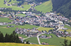 Zell am Ziller in Tyrol seen from Rohrberg, Austri Stock Photography