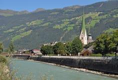 Zell Ziller, valle di Zillertal, Tirol, Austria Immagine Stock Libera da Diritti