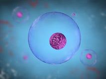 Zelle mit blauem Hintergrund lizenzfreie abbildung