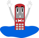 Zellen-Kerl im Wasser lizenzfreies stockfoto