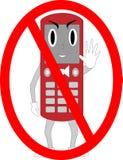 Zellen-Kerl keine Telefone stockfotografie