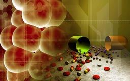 Zellen und Kapseln vektor abbildung
