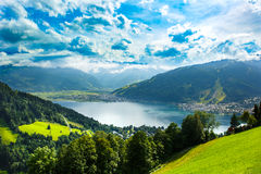 Zeller See lake. Zell Am See, Austria, Europe. Alps at background. royalty free stock images