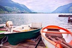 Zeller vede con le canoe nella priorità alta Immagine Stock