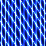 Zellgewebe, Filetarbeit, Bienenwabe, abstraktes blaues Neon, das Hintergrund einzäunt Stockfoto