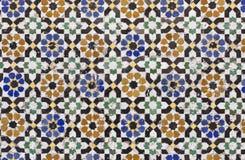 Zelligetegels van Marokko Royalty-vrije Stock Afbeeldingen