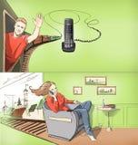Zellulärer Kommunikationen Storyboard Stockbild