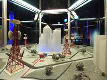 Zellulares Konzept im Wissenschafts-Museum Lizenzfreie Stockbilder