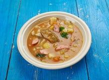 Bohemian Zelnacka. Zelnacka - Bohemian cabbage soup , close up royalty free stock photos