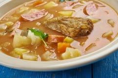 Bohemian Zelnacka. Zelnacka - Bohemian cabbage soup , close up royalty free stock photography