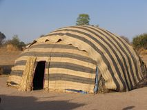 Zelt in Afrika Lizenzfreie Stockbilder
