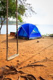 Zelt auf dem Strand Stockfotografie