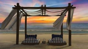 Zelt auf dem Strand Lizenzfreie Stockbilder