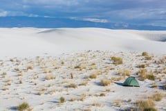 Zelt in der Wüste Lizenzfreie Stockfotos