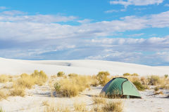 Zelt in der Wüste Stockbild