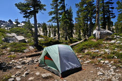 Zelt in der Wildnis Lizenzfreie Stockbilder