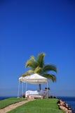 Zelt für Massage Stockfoto