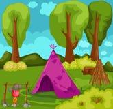 Zelt im Wald Lizenzfreie Stockfotos