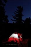 Zelt nachts stockbilder