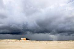 Zelte auf einem Strand (Pititinga, Brasilien) Lizenzfreie Stockfotografie