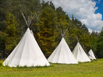 Zelte am Campingplatz stockfoto