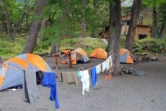 Zelte in der Natur Stockbild