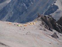 Zelte im Lager, Anden Lizenzfreie Stockbilder