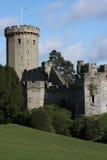 Zelte am Warwick Schloss Lizenzfreies Stockfoto