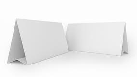Zeltkarte oder reserviertes Zeichen Stockbilder