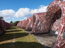 Zeltlager im Freien stockfotos