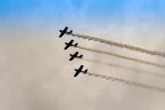 ZELTWEG ÖSTERRIKE - JULI 02, 2011: Lag för flygtjurkonstflygning, Arkivfoto