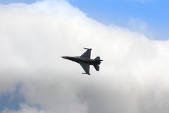 ZELTWEG AUSTRIA, LIPIEC, - 02, 2011: samolot, LOCKHEED MARTIN F-16 Obrazy Royalty Free