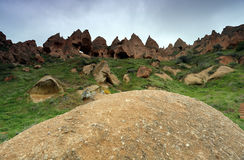 Zelve, Cappadocia,土耳其 免版税库存照片