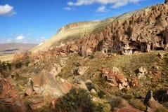 Zelve Cappadocia, Turkiet Arkivfoto