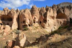 Zelve Cappadocia, Turkiet Fotografering för Bildbyråer
