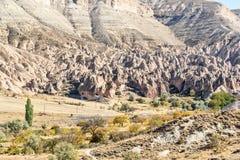 Zelve dolina w Cappadocia indyk Zdjęcia Royalty Free